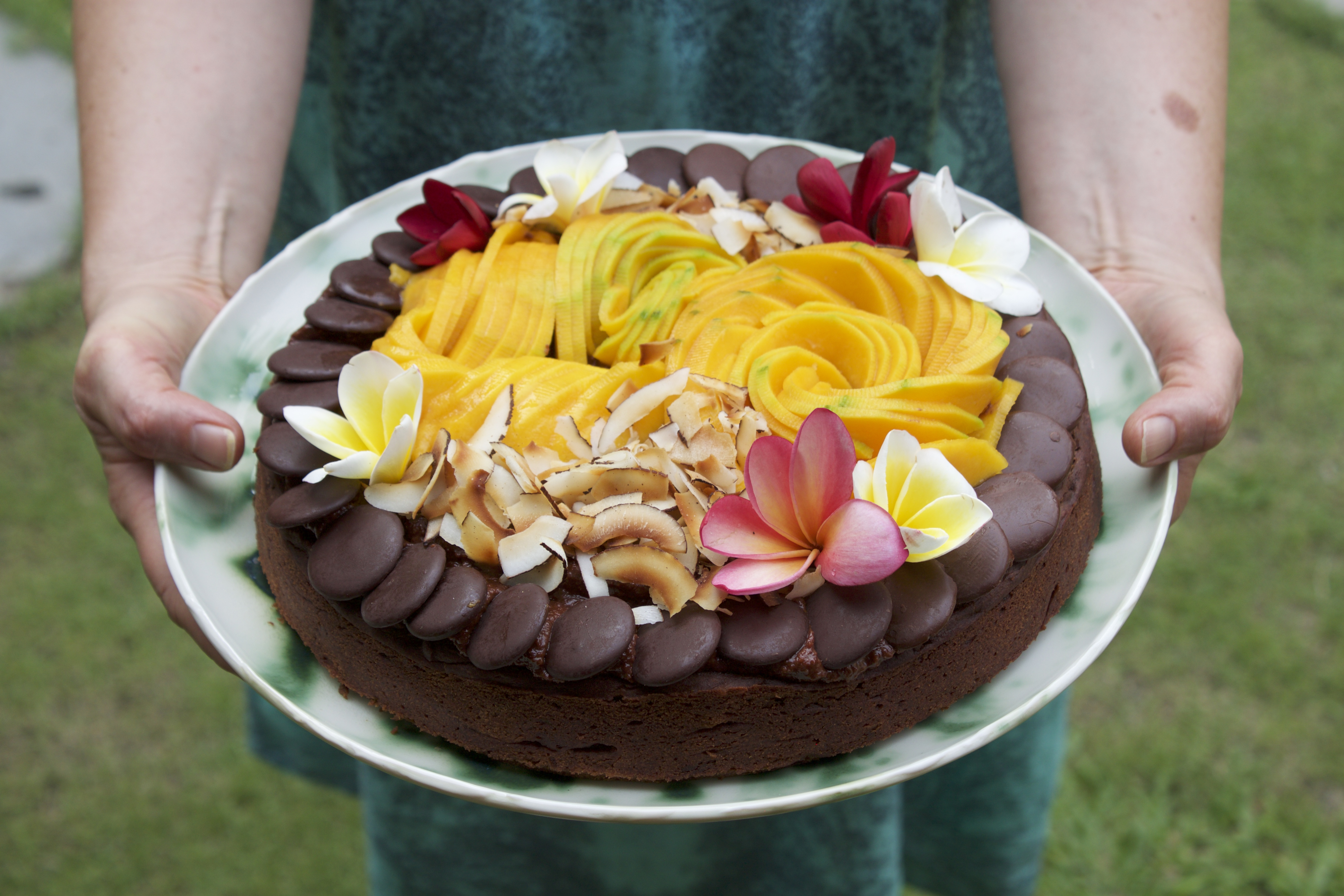 Yoga retreat chocolate cake