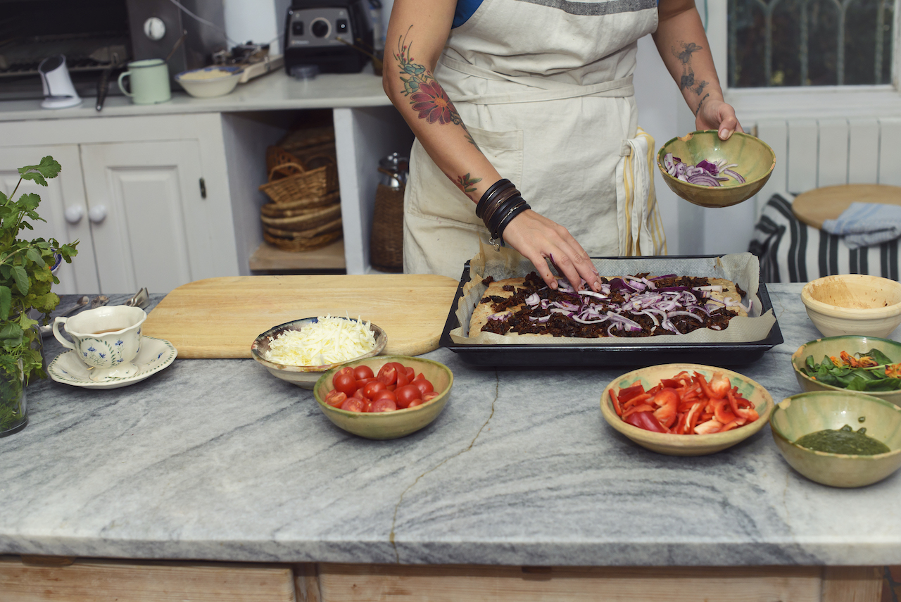 plant based chef in kitchen
