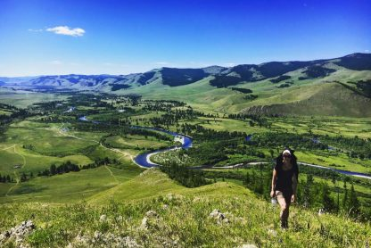 Yoga and hiking in Mongolia